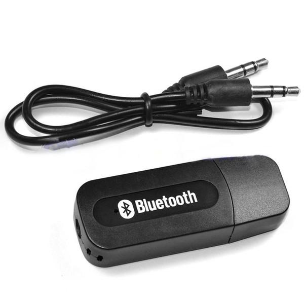 USB 3.5mm Inalámbrico Bluetooth Música Receptor de Audio Adaptador Estéreo 3.5mm Jack para Coche AUX Android / IOS Teléfono Móvil