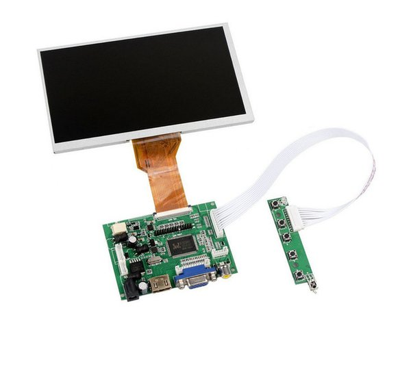 Wholesale- 10 inch Raspberry pi Display LCD TFT Shield Display Module HDMI+VGA+Video Driver Board for Raspberry Pi