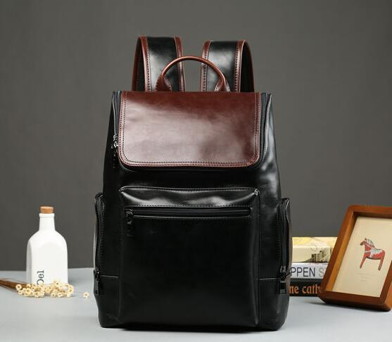 factory sales brand package upgrade han edition college students bag wind hitting scene of England tourist leather men backpack