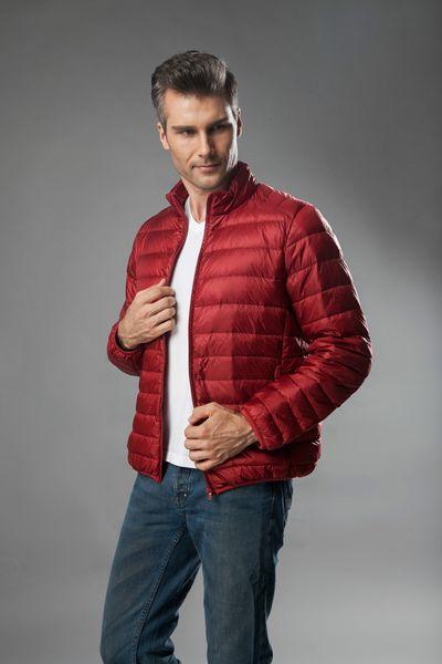 Men's Winter Duck Down Jacket Ultra light Men 90% Coat Waterproof Down Parkas Fashion mens Outerwear coat free shipping