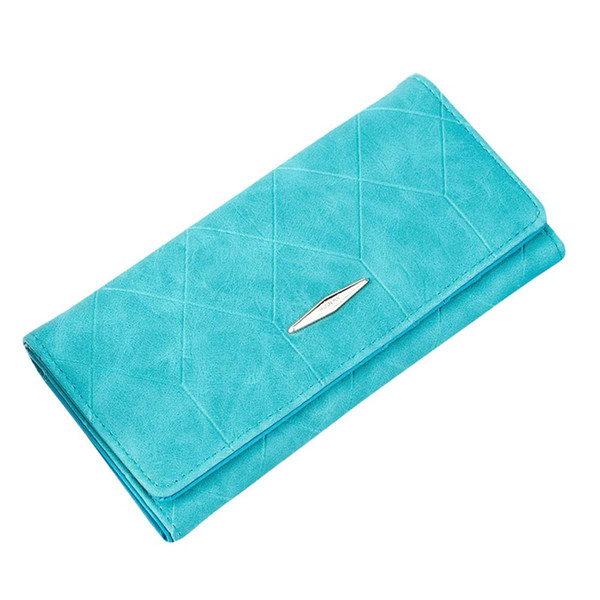 Wholesale- Candy Color Women's Long Wallets Hasp High Quality Women Wallet Card Holders Clutch Fashion Designer High Quality Lady