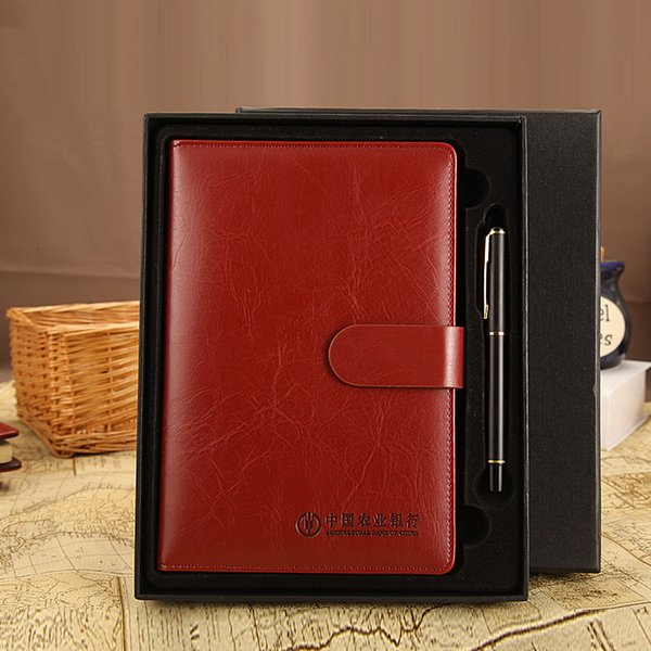 Wholesale- agenda 2017 Business Pen notes sets of high-end notebook suits notebook planner sketchbook material escolar stationery only book