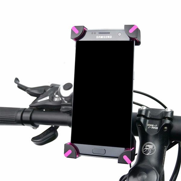 New Arrival Universal Mobile Bicycle Phone Holder For iPhone Xiaomi Samsung LG Adjustable Bike Handlebar Clip of Del base Mount Bracket