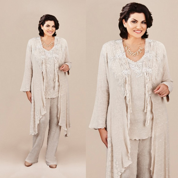 a130669d753 Ann Balon Mother Of The Bride Pant Suits Long Jacket Cheap Lace Mothers  Wedding Guest Dress