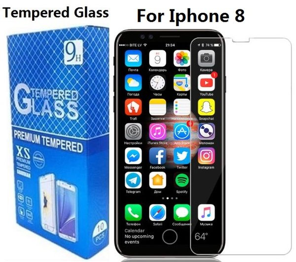 Tempered Glass Screen Protector For Iphone 8 7 6S Plus For Samsung Galaxy C5 C7 C9 J7 2017 9H Anti Scratch Retail Package