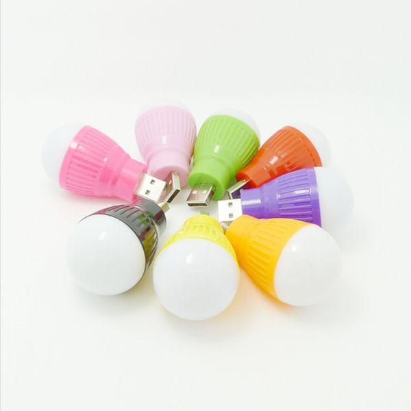 USB small light bulb color LED mini lamp USB computer mobile power supply emergency lamp LED energy saving lamp