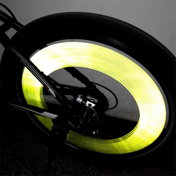Luzes de bicicleta reflexiva da roda aviso tubo clipe bycicle luz ciclo de bicicleta acessorios bicicleta lanterna bicicleta falou luz