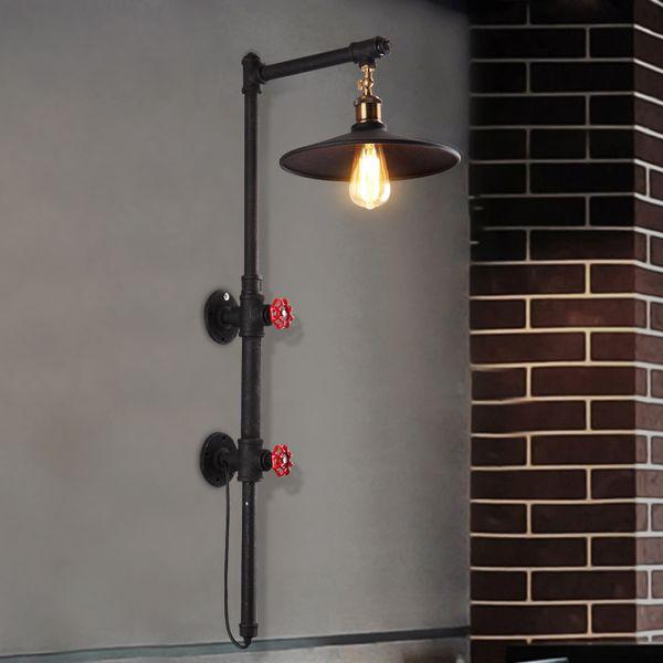 American Waterpipe Lampade da parete Industriale Vintage Lampada da parete a soppalco Illuminazione interna per casa Sala da pranzo Ristorante Caffè Bar Lampada da tavolo
