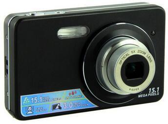 Wholesale-5.0Mega pixels digital camera 3.0-inch Touch Screen 5X optical zoom, 8X digital zoom Gift cameras