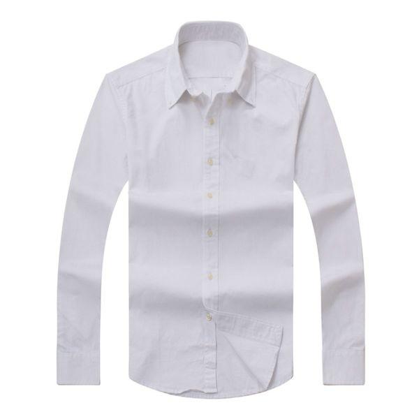 top popular 2017 new Fall Men's Long Sleeve Shirt Cotton Shirt Men's polo Casual Solid Regular fit Men's Shirts fashion Free Shipping 2020