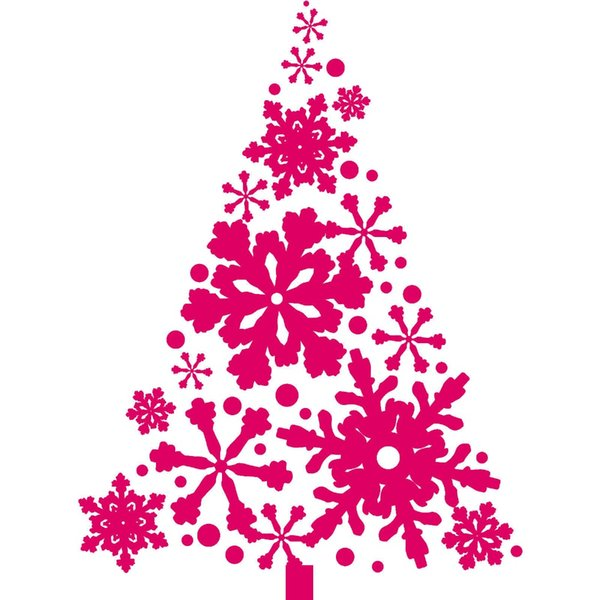 2017 Home Decoration Merry Christmas Vinyl Wall Sticker Art Design Christmas Tree With Snowflakes Vinyl Special Wal Decals D-137