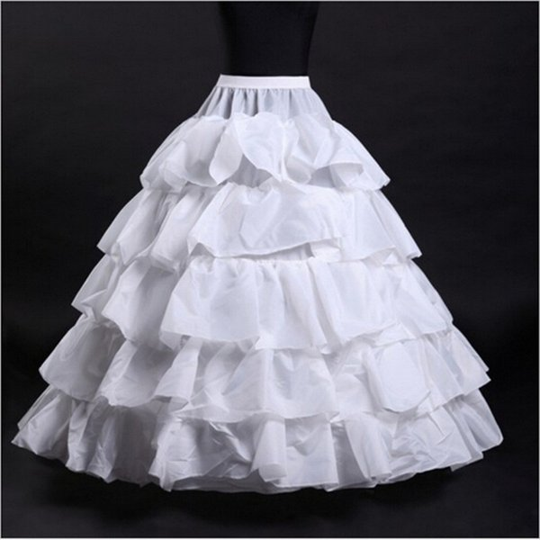 Nuevas enaguas de boda Venta caliente 50% de descuento en Blanco / Negro / Rojo Vestido de fiesta 4 aros 5 capas Slip Underskirt Crinolina para vestidos formales