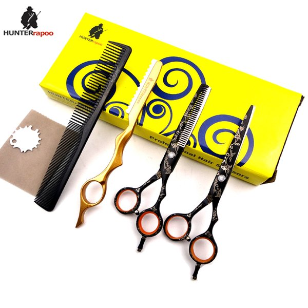 "6.0"" inch HT9140 Barber Scissors Kit Hair Cutting Scissor and Thinning shear for hairdresser haircut scissors set"