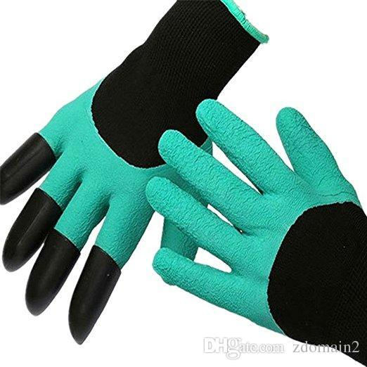 Safety Work Gloves Multi-functional Gardening glove Gardeners' Gloves for Digging & Planting with 4 ABS Plastic Claw Durable Tools.