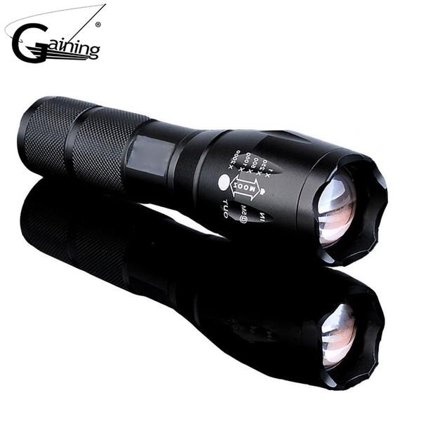 G700 X800 Led Tactical Flashlight Lanterna Self defense 5000Lumen Zoomable XML T6 LED 18650 Flashlight Focus Torch Lamp Light