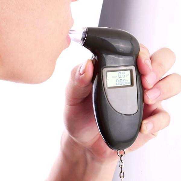 Brandneuer und hochwertiger digitaler Alkoholtester Alkoholtester Analyzer Detector Test Keychain mit akustischem Alarm