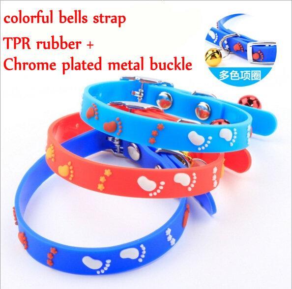 50pcs Dog cartoon Pendant rubber metal Buckle Pet Collar Puppy Cat Neck Strap