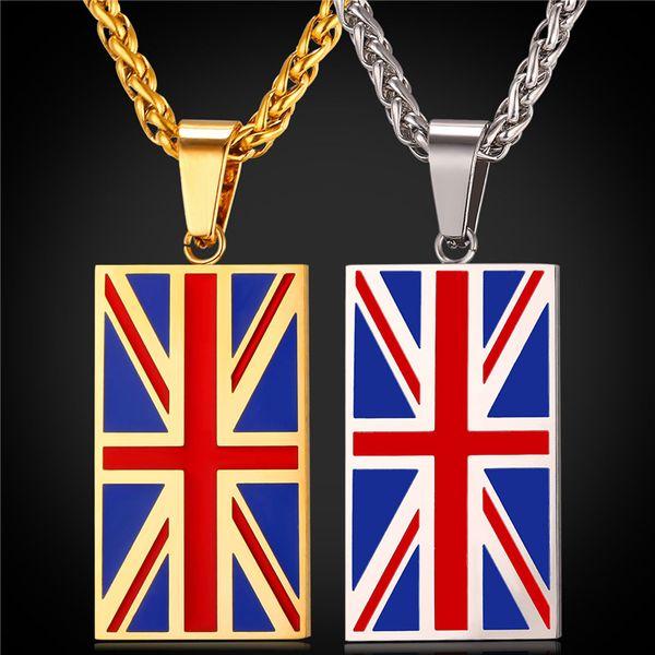 Nuevo. Un Par De Colgantes Corazón Bandera Union Jack temática pendientes