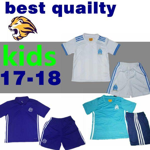 the latest 60a08 09231 2017 2018 Olympique Marseille Kids Kit Soccer Jersey 17 18 Batshuayi Gignac  Maillot De Foot Payet Ocampos Lass Home Shirt Top Quality UK 2019 From ...