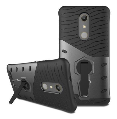 Für ZTE Zmax Pro Fall Z981 Stoßfest Rüstung Silikon Abdeckung 360 Grad-umdrehung Ständer Telefon Fall Für ZTE Zmax Pro Z981