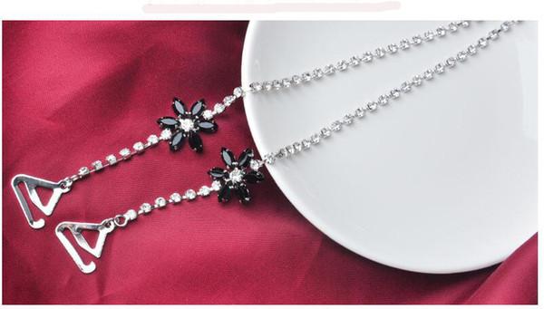 Girasole nero con diamante argento