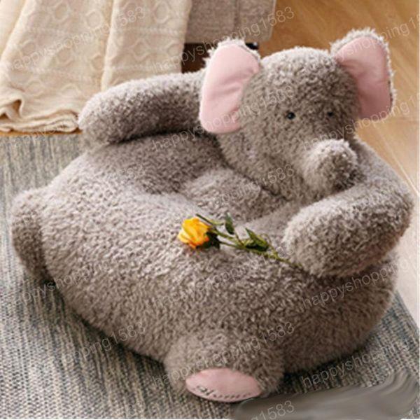Pop Cartoon Animals Plush Elephant Alpaca Baby Chair Soft Cuddly Kids Sofa  Cushion 65cmX42cm Nice Baby