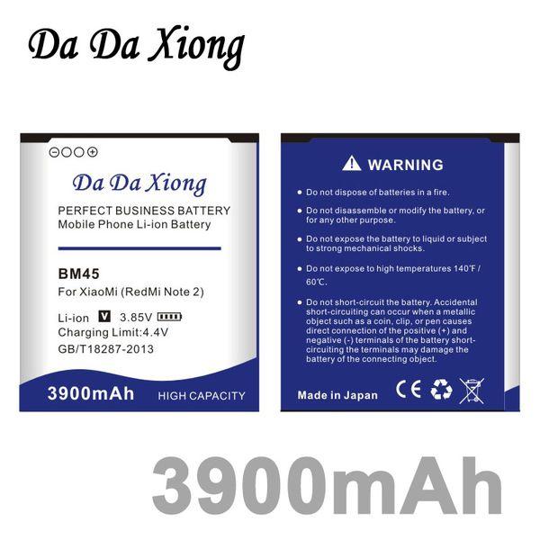 top popular Da Da Xiong 3900mAh BM45 Battery for Xiaomi RedMi Hongmi Note2 Red Rice Note 2 2019