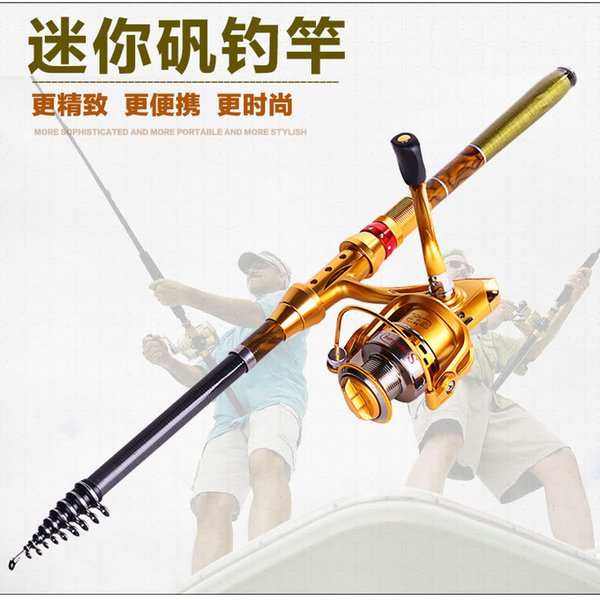 best selling Wholesale- 2016 New Carbon Rocky Sea Fishing rod 3 m ultralight superhard throwing pole fishing gear + AF4000 Spinning Wheel Rod Combo