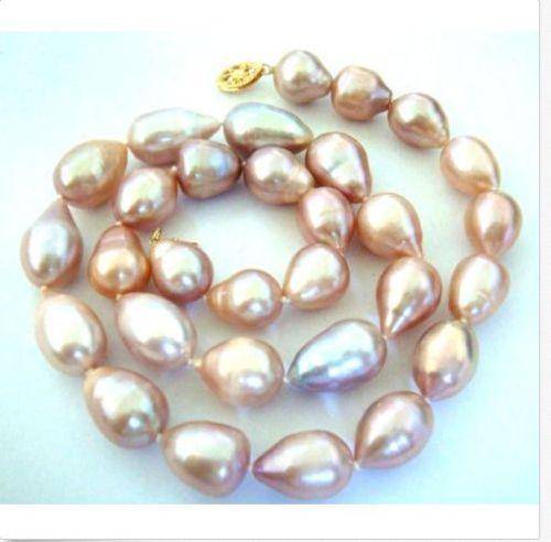 FREE SHIPPINGNEW Schöne Südliche Ozean natürliche graue Perlenkette 9-10 mm