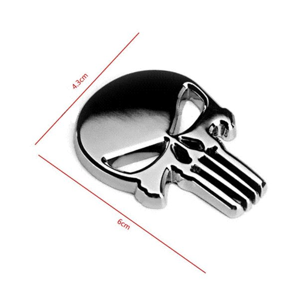 Halloween Gift 3D Skull Car Sticker Metal Ghost for Harley Davidson motorcycle Auto Moto  Sticker Car Styling for KIA Chevrolet