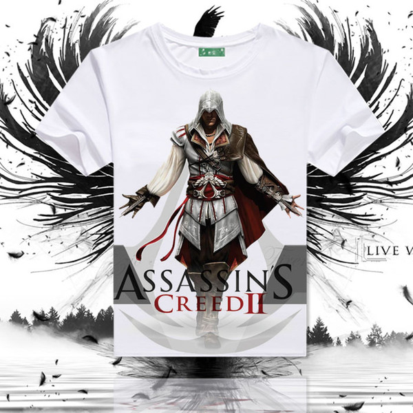 4548bf71d Assassins Creed T shirt New arrive short sleeve Assassin Desmond style tees  Game clothing Men cotton