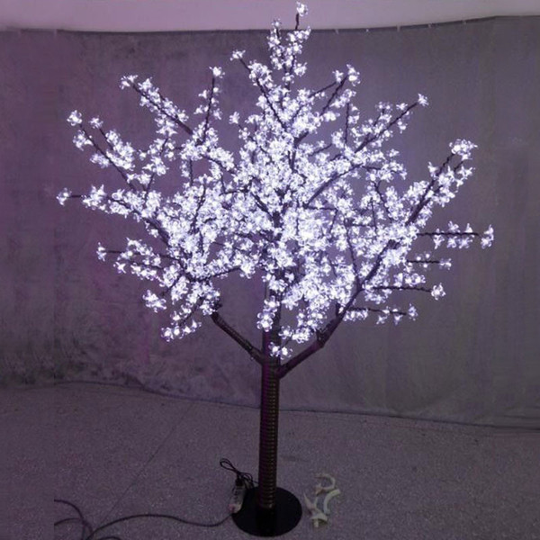 Ücretsiz gemi 5ft 1.5 M yükseklik LED Kiraz Çiçeği Ağacı kapalı Açık Düğün Noel Işık Dekor 480 Beyaz / kırmızı / pembe / mavi / sarı / yeşil LEDs