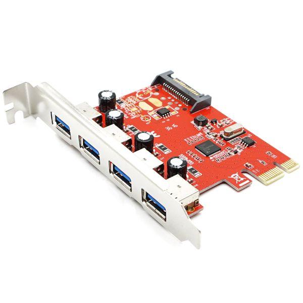 top popular PCI Express 4 USB 3.0 Card PCI-e to External 4-Port USB3.0 Convertor NEC D720201 2021