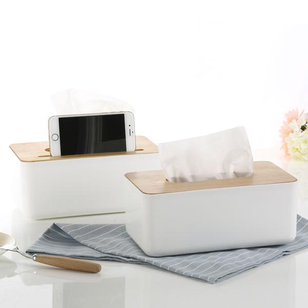 All'ingrosso-Creativo semplice scatola di copertura in tessuto di quercia Auto con scatola metallica del tessuto Contenitore di stoccaggio detriti