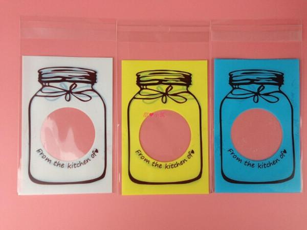 7 * 10 cm Colorido Auto-adesivo Embalagem De Bolinho Sacos De Plástico Para Biscoitos Cupcake Snack Cozimento De Armazenamento