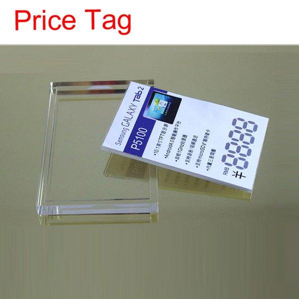 50 pcs x preço tag lable display stand suporte para celular câmera do telefone móvel mp4 e tablet de varejo de exibição
