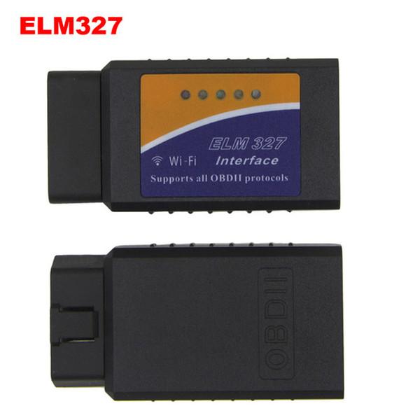 ELM327 v1.5 wifi OBD OBD2 Scanner de diagnostic de voiture orme 327 wifi 1.5 OBDII WIFI Scanner pour Android / IOS V 1.5 sans fil livraison gratuite