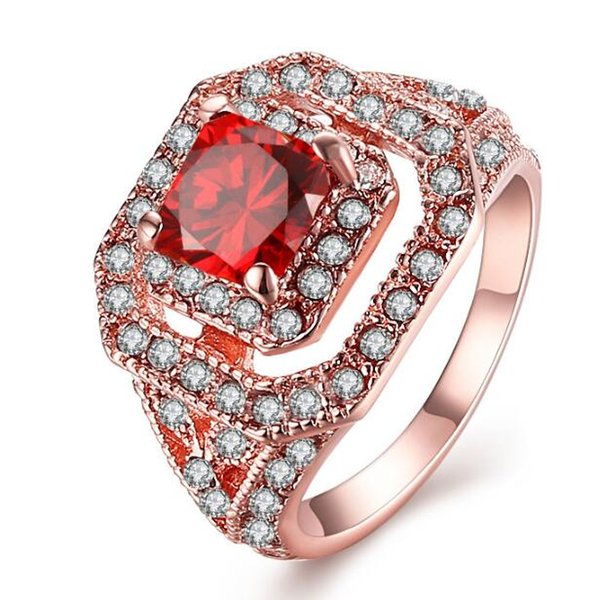 Three Years Quality Assurance New Fashion Jewelry 18K Rose Gold Plated Ring For Women R064 Free Shipping