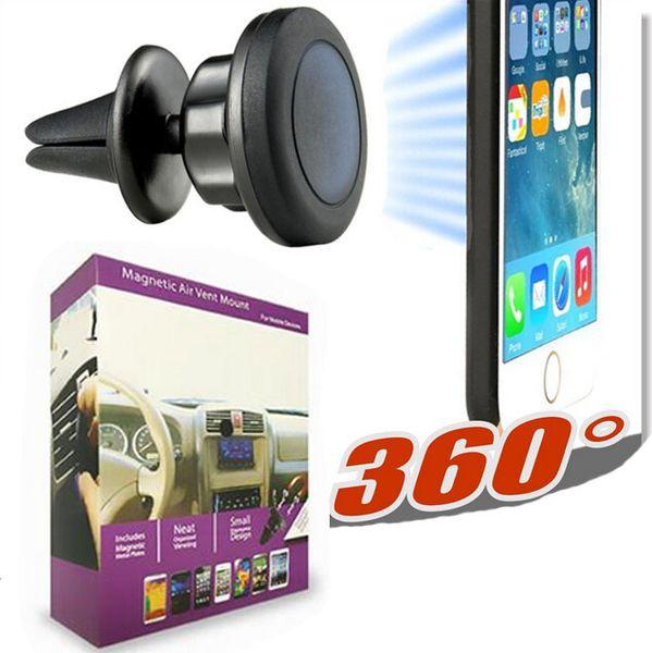 7dcdaff5429 Soporte magnético universal para montaje en automóvil de ventilación de  aire para teléfonos celulares y mini