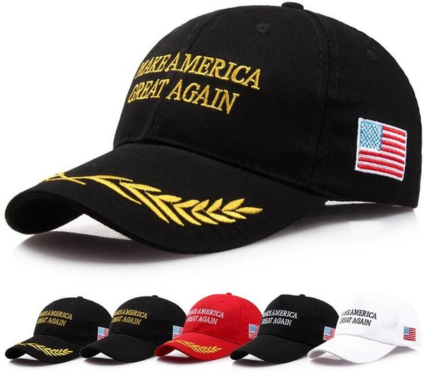 top popular 200Pcs Make America Great Again Hat Donald Trump Republican Snapback Sports Hats Baseball Caps USA Flag Mens Womens Fashion Cap 2019