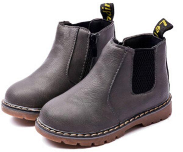 2018 Nueva Primavera Otoño Zapatos para niños Cuero de LA PU Clásico Martin Botas Niños Botas de nieve Marca Toddler Boys Botas de goma