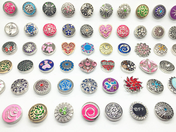 best selling New arriver assorted Interchangeable 18mm snaps buttons Metral Charm Clasps Diy Ginger Snaps Jewelry