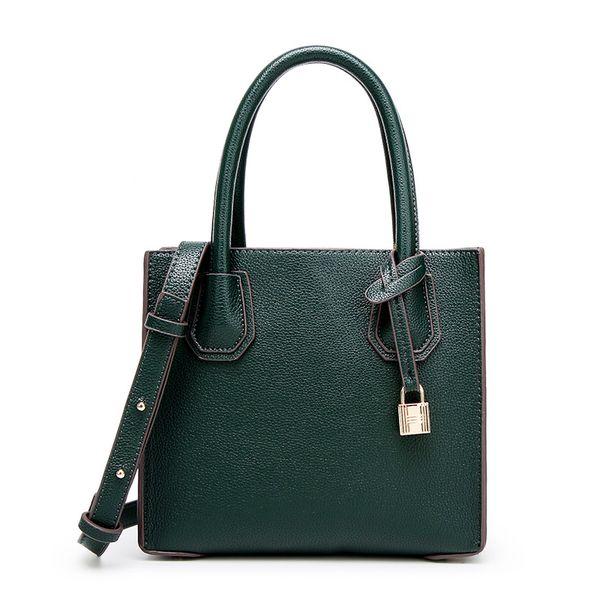 Europe and the United States contracted handbag Dark green litchi grain single shoulder bag 2017 Fashion Women Handbag