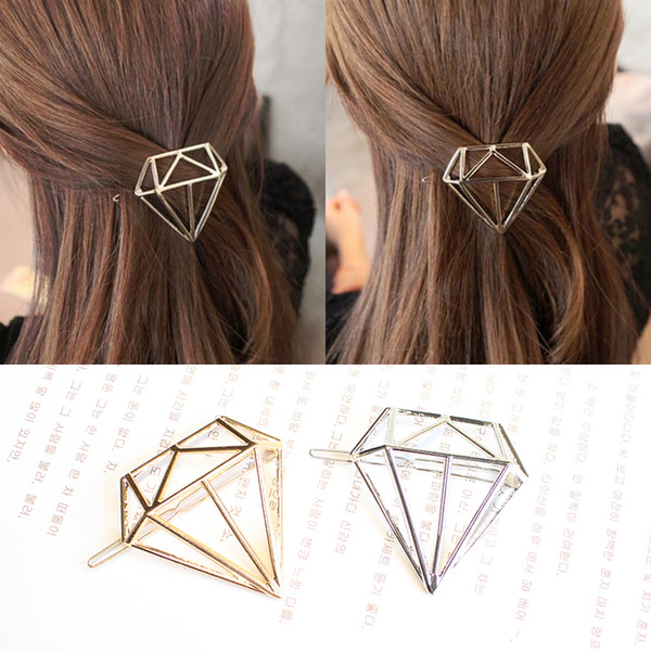 Hot Sale Metal Diamond Dia Hair Pin Clip Boho Style Lovely Girls Womens Children Golden Silver Hair Accessories Headpiece Hairpins Wholesale