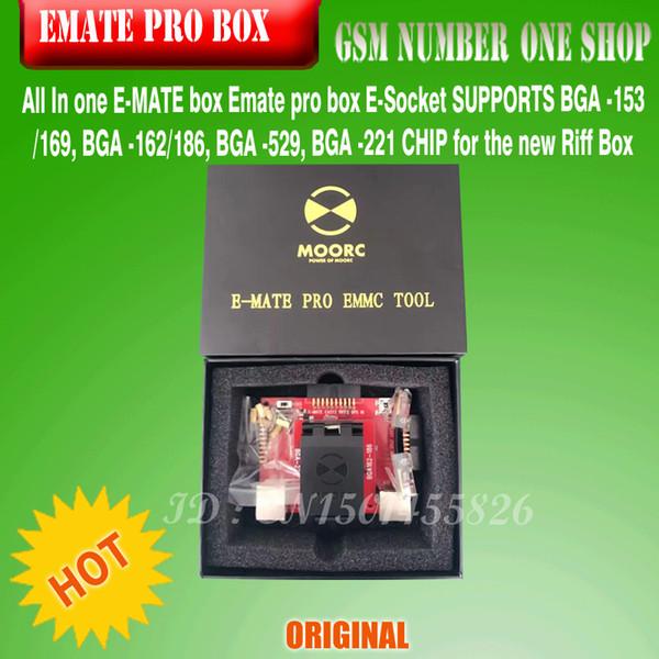 2016 New Version E MATE Box Emate Box E Socket 6 In 1 No Welding BGA169E  BGA162 BGA221 Support EASYJTAG ATF GPG EMMC BOX Free Shiping Phone Repair