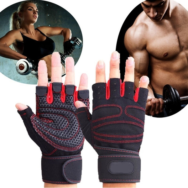 Men And Women Gym Gloves Half Finger Breathable Weightlifting Fitness Sport Gloves Dumbbell Men Women Weight lifting Glove