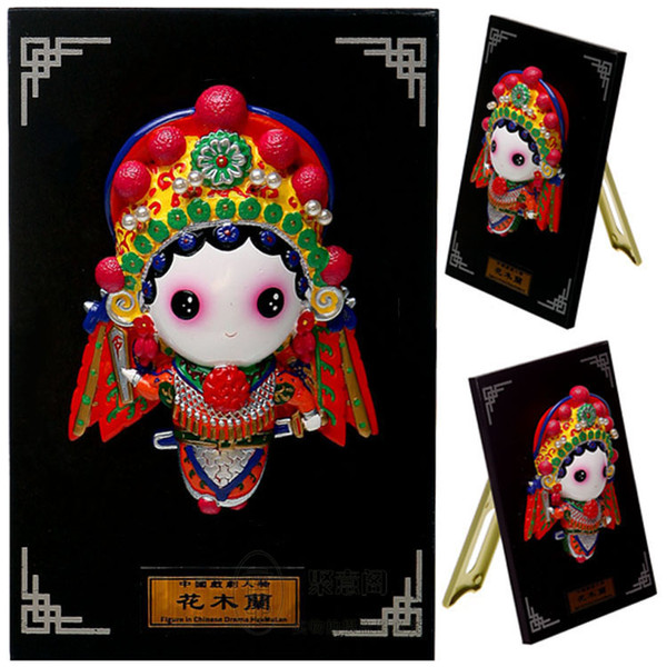 Peking Opera doll cartoon characters - Mulan Chinese wind ornaments overseas business affairs gifts gift ideas