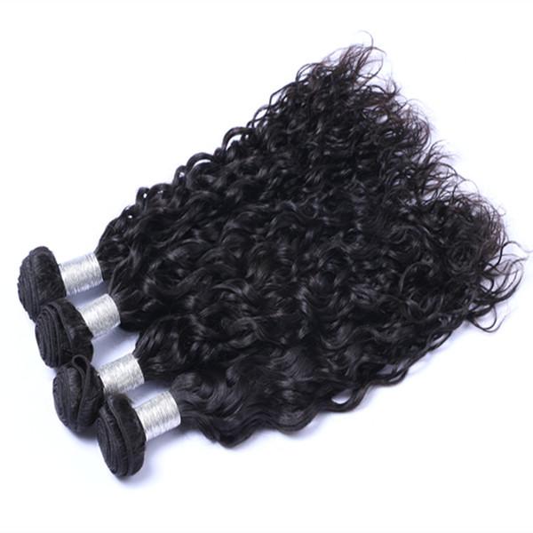 Can Be Dye Ombre Color Brazillian Peruvian Indian Malaysian Hair Natual Wave Brazilian Human Hair 1B Color Weave Extensions