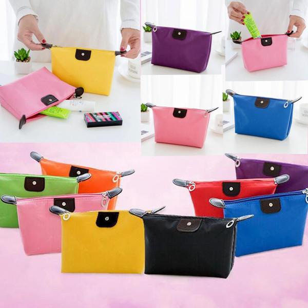 Candy farbe Reise Make-Up Taschen frauen Dame Kosmetiktasche Clutch Clutch Handtasche Hängenden Schmuck Casual Geldbörse KKA1825