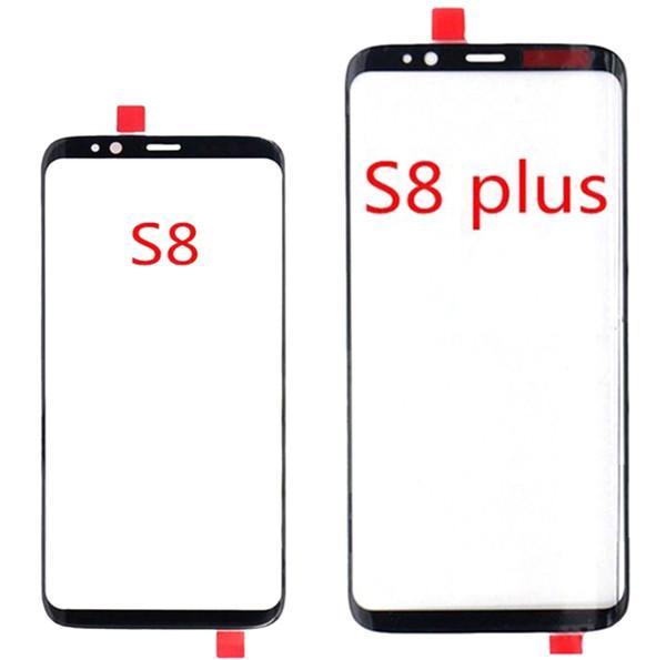 1 pcs para samsung galaxy s8 s8 além de g950 g950f g955 frente outer lente de vidro 5.8